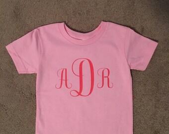 Monogram Toddler T-shirt, toddler gift, toddler girl gift, toddler boy gift, toddler shirt, kids shirt, cute shirt