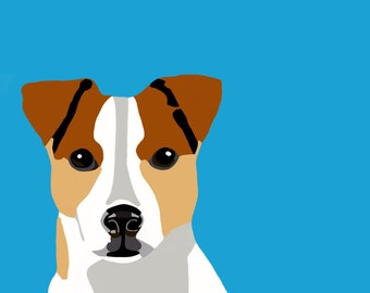 Jack Russell Terrier Dog Digital Portrait