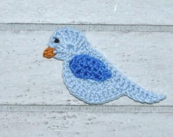 1 Bird - Bird - crochet - application - patch
