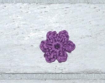 Flower - mini patch - crochet - application