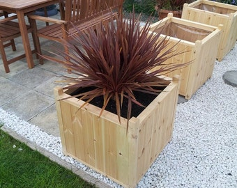 pine garden planter tongue and groove
