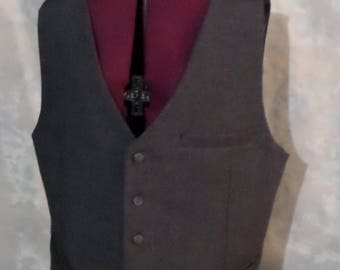Heathered Gray Men's Vest Size 40