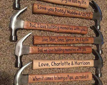 Personalized Hammers for Dads and Grandfathers