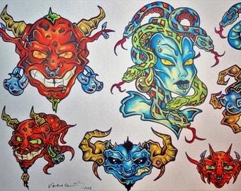 Tattoo Flash Designs