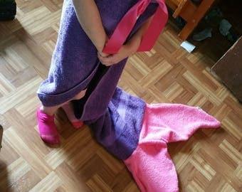 Mermaid tail towels