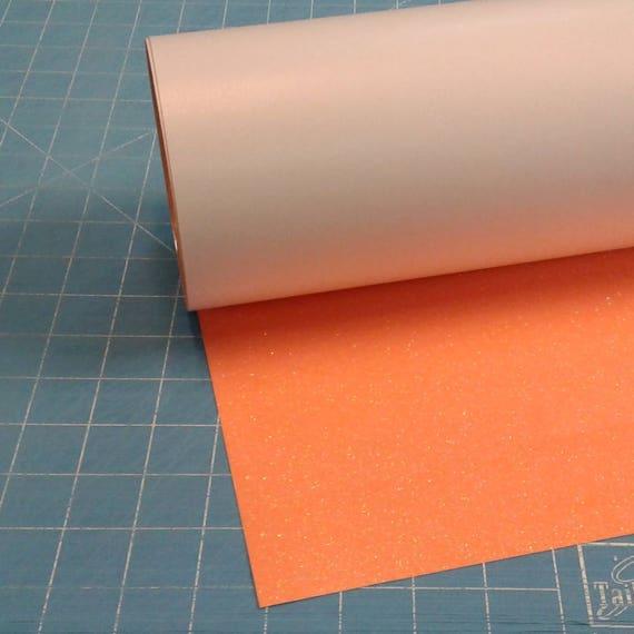 "Orange Neon Siser Glitter 20"" x 3' Roll * Heat Transfer ..."