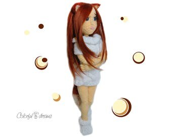 "Crochet pattern ""Fox girl"""