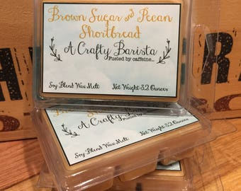 Scented Wax Melts - Soy Blend Wax Tarts - Candle Melts - Breakaway Tarts - Brown Sugar & Pecan Shortbread - Home Fragrance ~ Wax Cubes