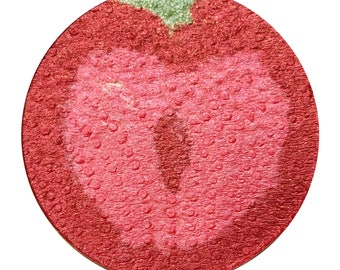 Fruity Strawberry   - Fruit Highlighter shaped as an Strawberry slice. Pink highlighter blush.