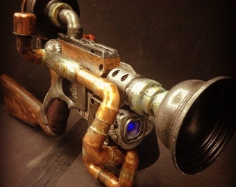 steampunk cosplay rifle , customized nerf nitefinder