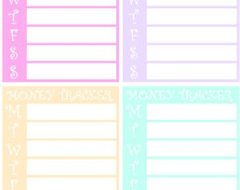 Money Tracker // Personal Filofax // Erin Condren // Stickers // Planner