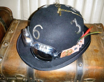 Clock Bowler. A Steampunk Creation. By Mr Turning Original