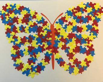Autism Puzzle Piece Butterfly