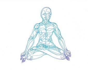 Lotus Pose - Yoga Postcard