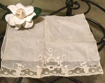 Vintage RARE hand embroidered Linen