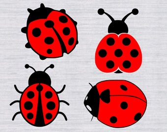 Ladybug SVG bundle, lady bug svg, ladybug clipart, insect svg, cricut download, scal, svg files for silhouette, cricut, dxf, cameo files