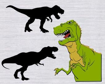 T Rex SVG Bundle, Tyranosaurus Rex SVG, Dinosaur svg, svg files for silhouette, cricut download, dxf, png, dinosaur clipart, trex svg
