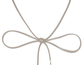 Lolusodesigns Long Wrap Around Lariat Bow Knot Suede Choker Angel Wing Heart
