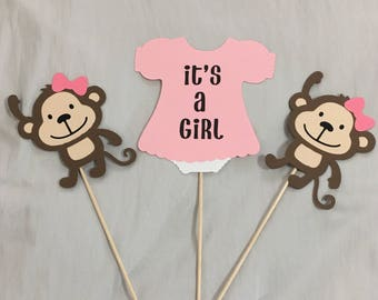 It's a Girl baby shower Monkey Theme