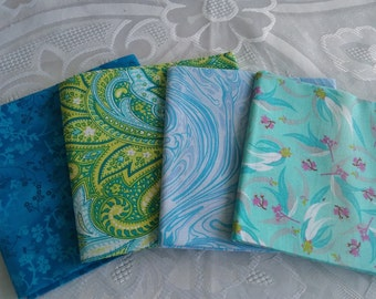 4 Fat quarter//100% Cotton//Quilting Fabric//Bundle