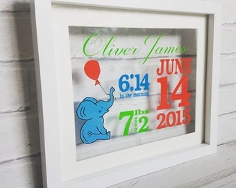 New baby decal framed or unframed personalised