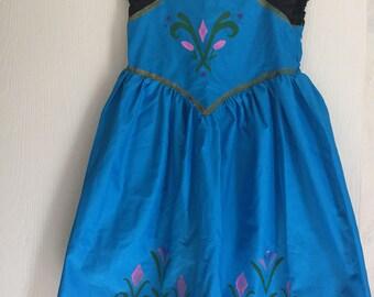 Elsa Coronation Inspired Cotton Disney Princess Dress---Sizes 12M-12---Made to Order