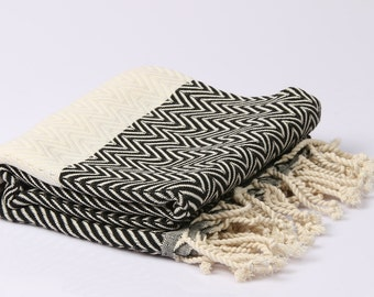 Hamamtuch, Pestemal, sauna towel and bath towel, hand-woven, 100% cotton, 95 x 180 cm