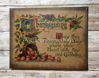 Thanksgiving 8x10 Canvas Art