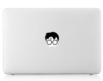 Harry Potter Glasses w/ Scar Hair Apple Macbook Laptop Air Pro Vinyl Decal Sticker