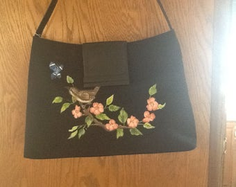 Bird on a branch purse