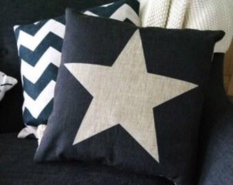 Black Star Cushion Cover