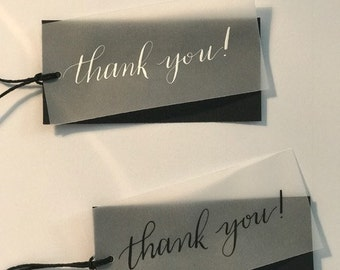 thank you tags-set of five