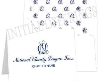 Set of 50 NCL (National Charity League) Folded Notecards