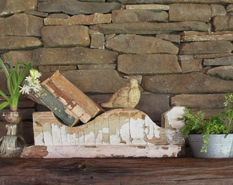 vintage white corbel/Architectural Salvage corbel
