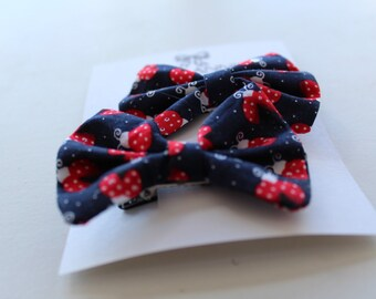 Set of 2 | Blue Ladybird | Traditional Bow Clips