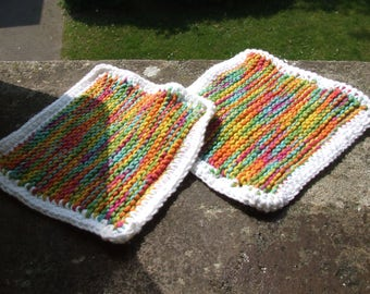 Dish cloth, rags of pure cotton yarn