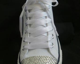 Crystal Bling Wedding Converse Style Trainers/Plimsoles