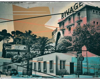 Bandol, photography, vintage, digital art, pattern, southern France, Cote d'azur,