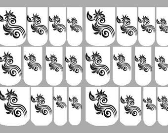 waterslide nail decals, nail art, decals, nail wraps