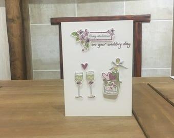 White Wedding Card