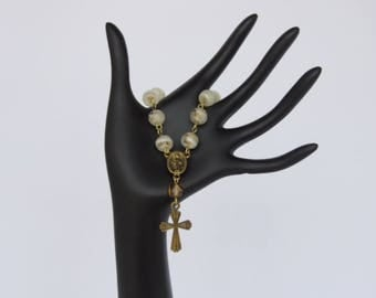 Marble Swirl Single Decade Rosary