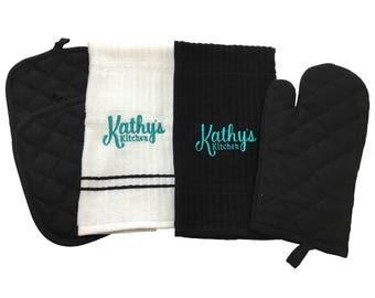 Kathy 2-Piece Personalized Kitchen Towel Set