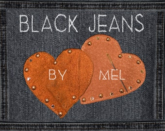 Black Jeans real photo for scrapbook in high resolution / Pockets, button, details and seams in PNG / Make your website, your invitation!