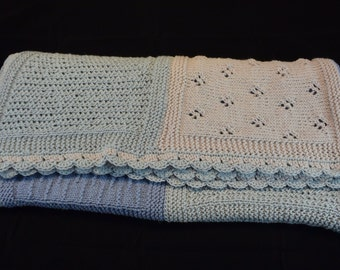 knitted baby blanket 90 x 105