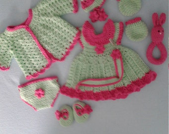 Green and pink am all newborn