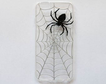 Spider phone case, halloween phone case, IPhone 7, 7 Plus, 5 5s 5c, IPhone 6, 6 Plus, Samsung galaxy case, boyfriend gift, spiderweb case