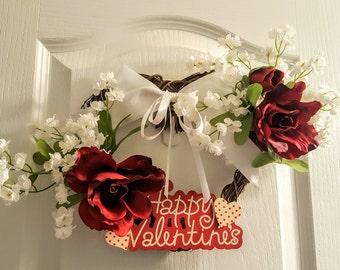 Valentine  Red Rose Wreath