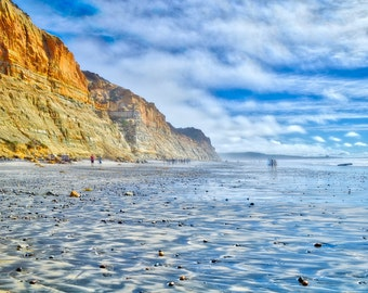 Torrey Pines, San Diego, California Print, Sunset Photography, Cliffside, Nature Decor, Cliff Wall Art, Sunset Art Print, SoCal Art Print
