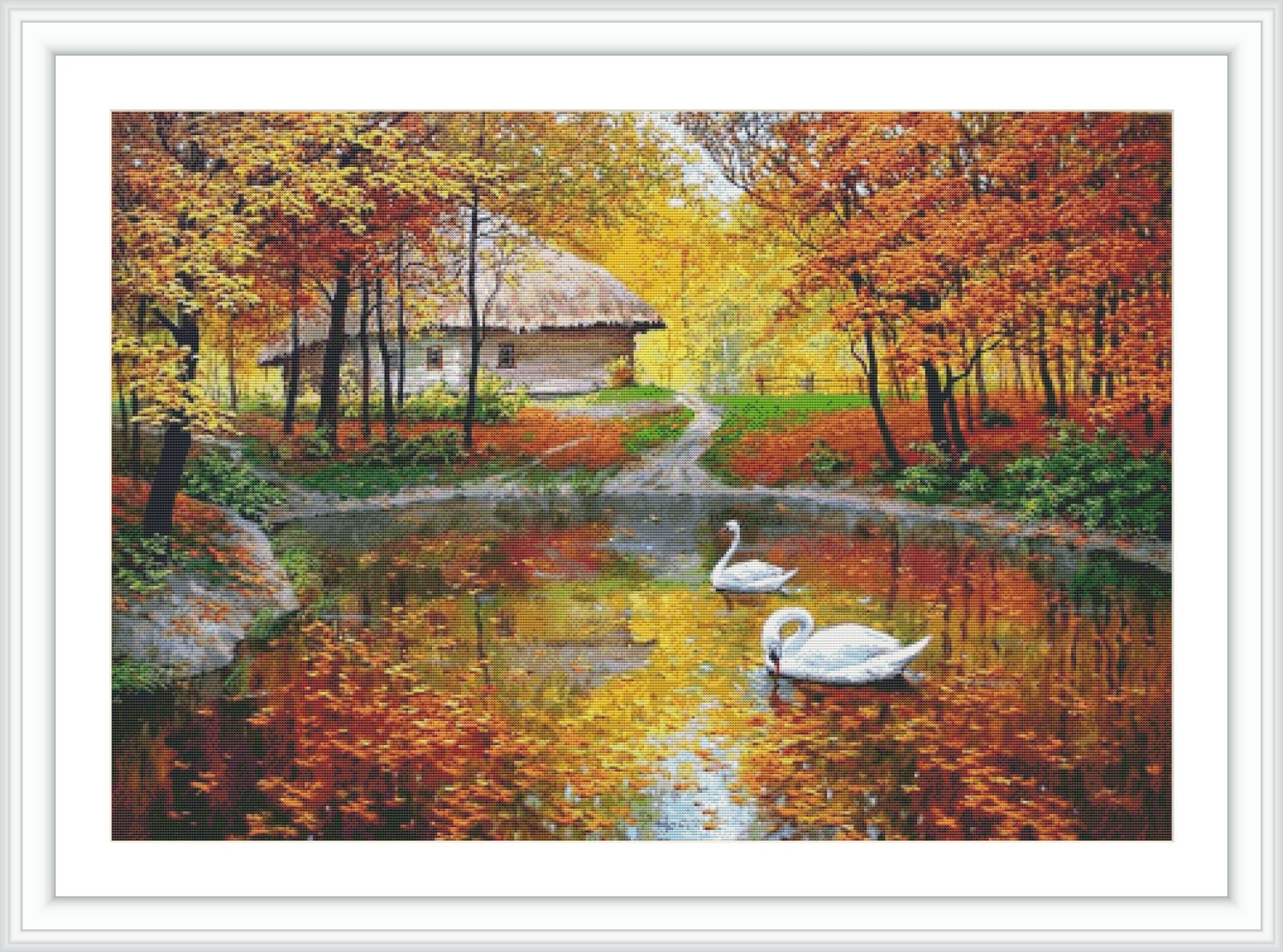 Autumn Counted Cross Stitch Pattern