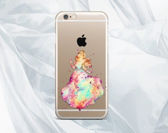 cinderella iPhone 6 cover iPhone 6S case watercolor case Samsung S6 Edge case disney Samsung S6 case cute Samsung Note 4 case clear case